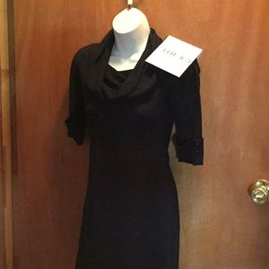 Ladies lightweight sweater dress in black size med